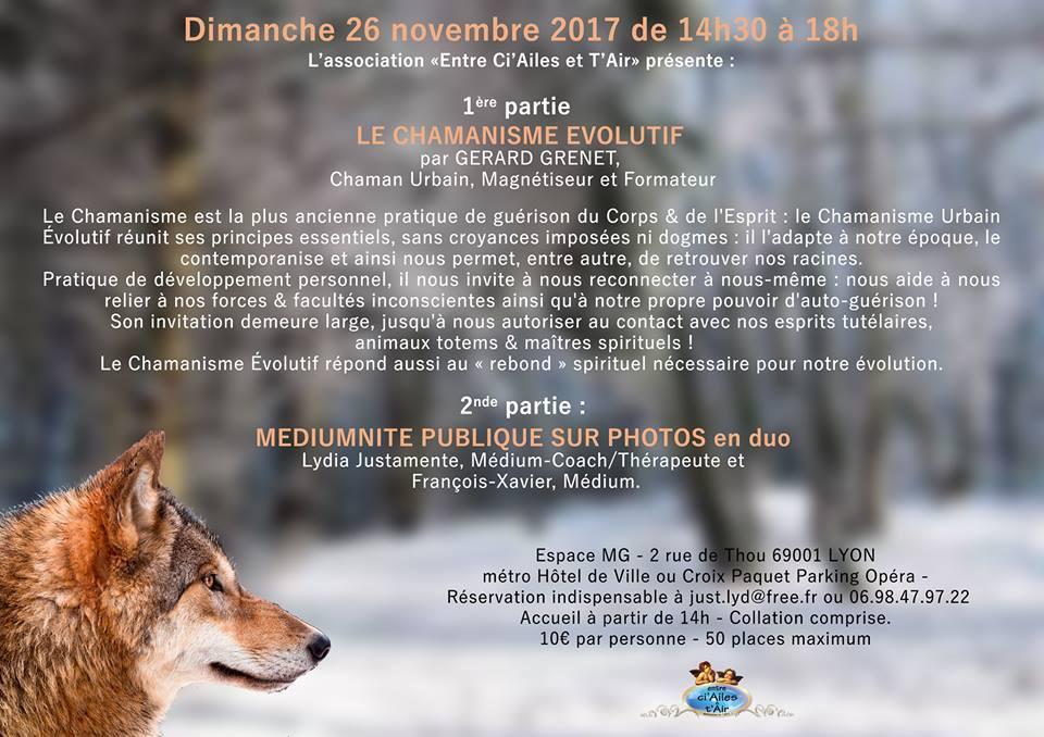 Conférence : le chamanisme évolutif - Lyon
